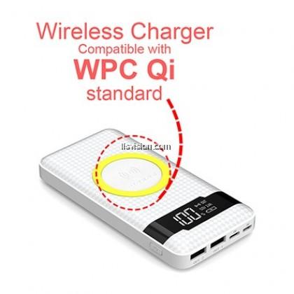 PINENG PN-886 10000mAh Qi Wireless Polymer Power Bank